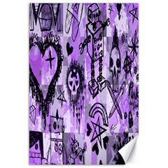Purple Scene Kid Sketches Canvas 20  x 30  (Unframed) by ArtistRoseanneJones