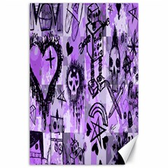 Purple Scene Kid Sketches Canvas 24  X 36  (unframed) by ArtistRoseanneJones