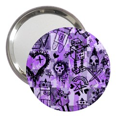 Purple Scene Kid Sketches 3  Handbag Mirror by ArtistRoseanneJones
