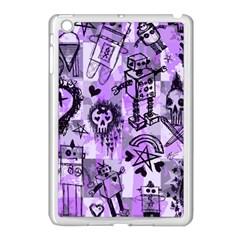 Purple Scene Kid Sketches Apple Ipad Mini Case (white) by ArtistRoseanneJones
