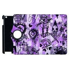 Purple Scene Kid Sketches Apple Ipad 2 Flip 360 Case by ArtistRoseanneJones