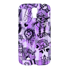 Purple Scene Kid Sketches Samsung Galaxy S4 I9500/i9505 Hardshell Case by ArtistRoseanneJones