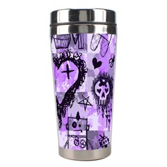 Purple Scene Kid Sketches Stainless Steel Travel Tumbler