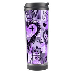 Purple Scene Kid Sketches Travel Tumbler by ArtistRoseanneJones