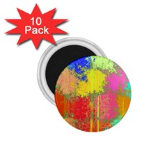 Colorful Paint Spots 1 75  Magnet (10 Pack)  by LalyLauraFLM