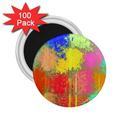 Colorful Paint Spots 2 25  Magnet (100 Pack)  by LalyLauraFLM
