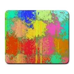 Colorful Paint Spots Large Mousepad by LalyLauraFLM