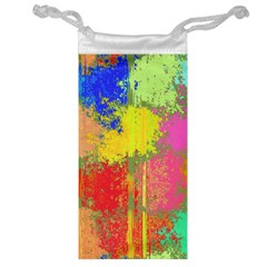 Colorful Paint Spots Jewelry Bag by LalyLauraFLM
