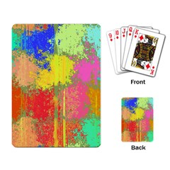 Colorful Paint Spots Playing Cards Single Design by LalyLauraFLM