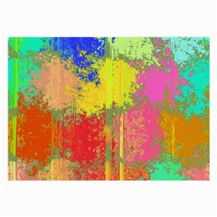 Colorful Paint Spots Large Glasses Cloth (2 Sides) by LalyLauraFLM