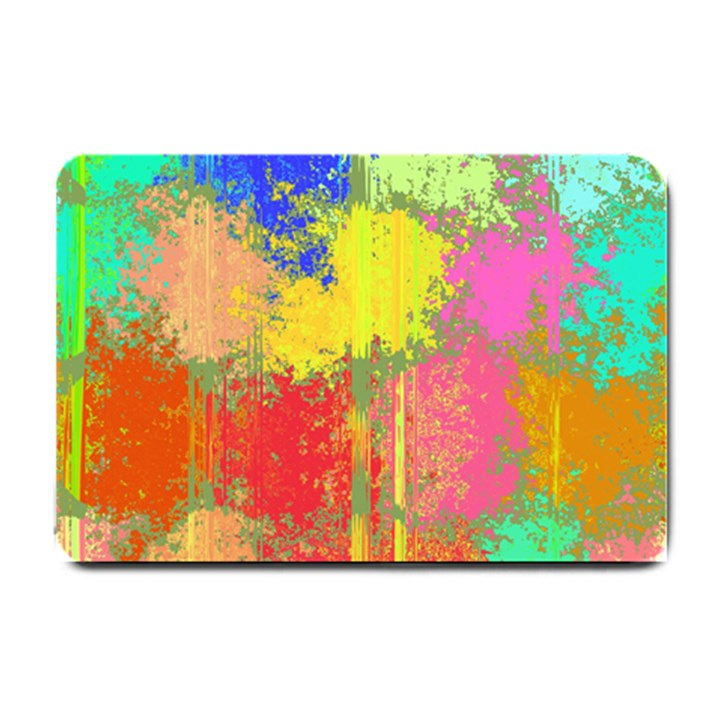 Colorful paint spots Small Doormat