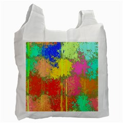 Colorful Paint Spots Recycle Bag (one Side) by LalyLauraFLM