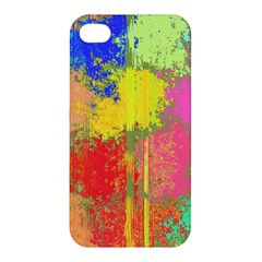 Colorful Paint Spots Apple Iphone 4/4s Premium Hardshell Case by LalyLauraFLM