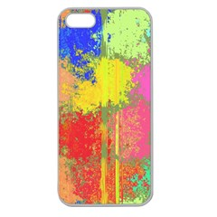 Colorful Paint Spots Apple Seamless Iphone 5 Case (clear) by LalyLauraFLM