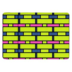 Pink,green,blue Rectangles Pattern Samsung Galaxy Tab 8 9  P7300 Flip Case by LalyLauraFLM