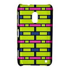 Pink,green,blue Rectangles Pattern Nokia Lumia 620 Hardshell Case by LalyLauraFLM