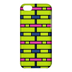 Pink,green,blue Rectangles Pattern Apple Iphone 5c Hardshell Case by LalyLauraFLM