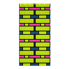 Pink Green Blue Rectangles Pattern	shower Curtain 36  X 72  by LalyLauraFLM