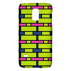 Pink Green Blue Rectangles Patternsamsung Galaxy S5 Mini Hardshell Case by LalyLauraFLM