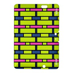 Pink Green Blue Rectangles Patternkindle Fire Hdx 8 9  Hardshell Case by LalyLauraFLM