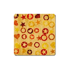 Shapes On Vintage Paper Magnet (square) by LalyLauraFLM