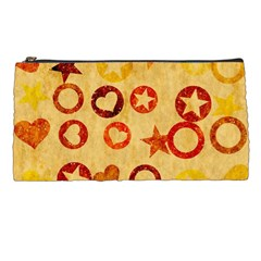 Shapes On Vintage Paper Pencil Case by LalyLauraFLM