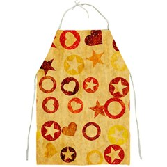 Shapes On Vintage Paper Full Print Apron by LalyLauraFLM