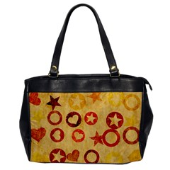Shapes On Vintage Paper Oversize Office Handbag by LalyLauraFLM
