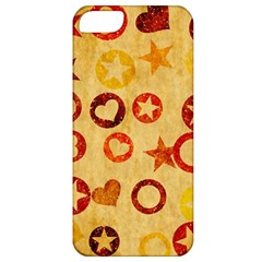 Shapes On Vintage Paper Apple Iphone 5 Classic Hardshell Case by LalyLauraFLM
