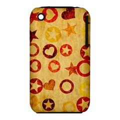Shapes On Vintage Paper Apple Iphone 3g/3gs Hardshell Case (pc+silicone) by LalyLauraFLM