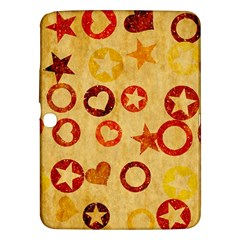Shapes On Vintage Paper Samsung Galaxy Tab 3 (10 1 ) P5200 Hardshell Case  by LalyLauraFLM