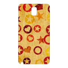 Shapes On Vintage Paper Samsung Galaxy Note 3 N9005 Hardshell Back Case by LalyLauraFLM
