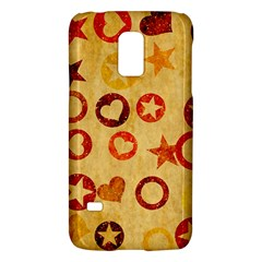 Shapes On Vintage Papersamsung Galaxy S5 Mini Hardshell Case by LalyLauraFLM