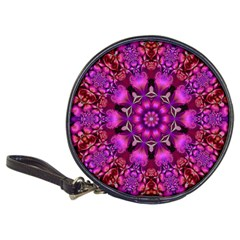 Pink Fractal Kaleidoscope  CD Wallet by KirstenStar