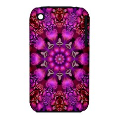 Pink Fractal Kaleidoscope  Apple Iphone 3g/3gs Hardshell Case (pc+silicone) by KirstenStar