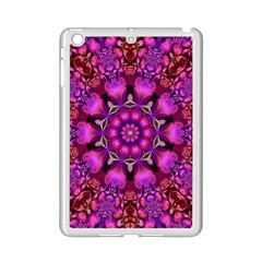 Pink Fractal Kaleidoscope  Apple Ipad Mini 2 Case (white) by KirstenStar