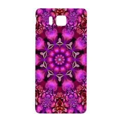 Pink Fractal Kaleidoscope  Samsung Galaxy Alpha Hardshell Back Case by KirstenStar