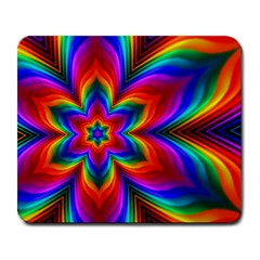Rainbow Flower Large Mouse Pad (rectangle) by KirstenStar