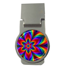 Rainbow Flower Money Clip (round) by KirstenStar