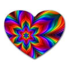 Rainbow Flower Mouse Pad (heart) by KirstenStar