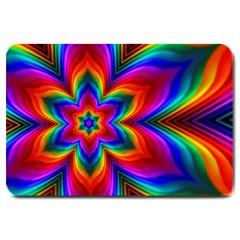 Rainbow Flower Large Door Mat by KirstenStar