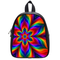 Rainbow Flower School Bag (small) by KirstenStar