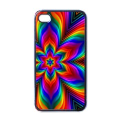 Rainbow Flower Apple Iphone 4 Case (black) by KirstenStar