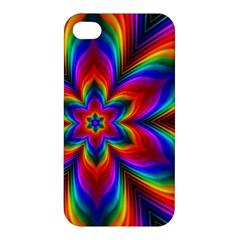 Rainbow Flower Apple Iphone 4/4s Premium Hardshell Case by KirstenStar