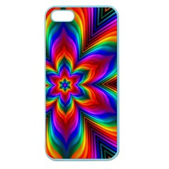 Rainbow Flower Apple Seamless Iphone 5 Case (color) by KirstenStar