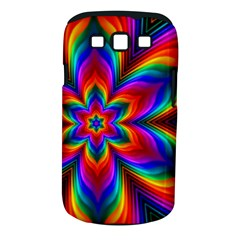 Rainbow Flower Samsung Galaxy S Iii Classic Hardshell Case (pc+silicone) by KirstenStar