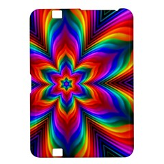 Rainbow Flower Kindle Fire HD 8.9  Hardshell Case by KirstenStar