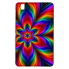 Rainbow Flower Samsung Galaxy Tab Pro 8 4 Hardshell Case by KirstenStar