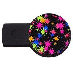 Colorful Stars Pattern Usb Flash Drive Round (2 Gb) by LalyLauraFLM
