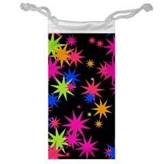 Colorful Stars Pattern Jewelry Bag by LalyLauraFLM